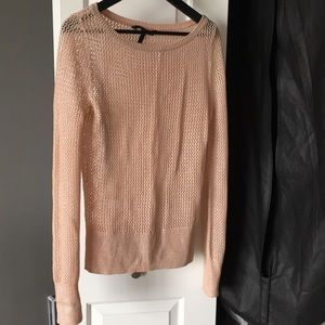 Light pink with silver light sweater